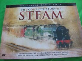 Steam train DVD and Book