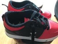Kids Size 1 Heelys style trainers