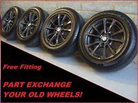 "2048 Genuine 16"" BMW 390 4 3 Series F30 31 Grey Alloy Wheels & Goodyear Tyres"