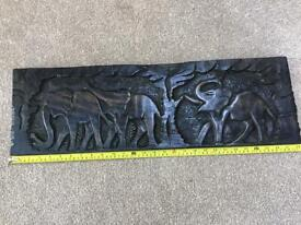 Genuine African carved plaque