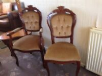 6 Dining Room Chairs - FREE to a good home
