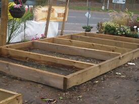RAISED BEDS RAILWAY SLEEPERS AND LARGE TIMBERS