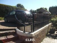 wrought iron gates, railings, hand rails, and all iron work, all made to measure, gate repairs