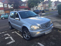 2004 MERCEDES-BENZ M CLASS2.7 ML270 CDI 5D AUTO,Full Service history,Leathers,Hpi Clear,1 Owner£2895