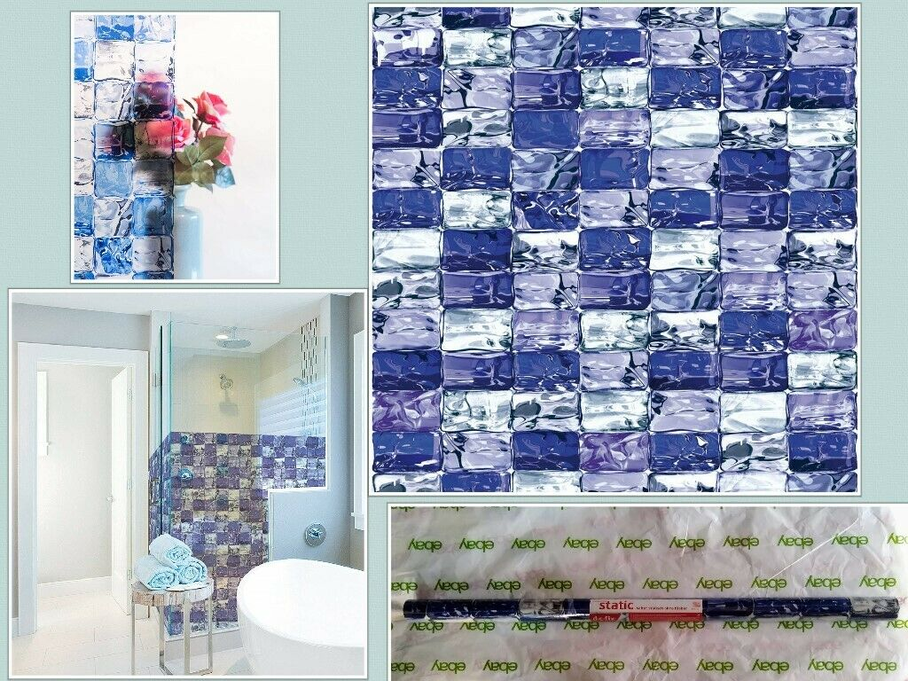 d-c-fix Privacy Glass Reusable Static Cling Window Film, Ice