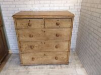 VICTORIAN PITCH PINE DRAWERS