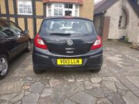 2013 Vauxhall Corsa EcoFlex in Black. Efficient, cheap to tax, cheap to insure and only 40k miles!