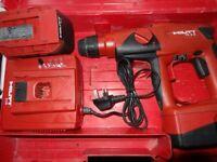 Hilti TE-2A SDS PLUS LI-ION ROTARY HAMMER DRILL 24v, charger and a genuine Hilti battery