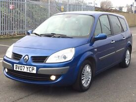 2007 (Mar 07) RENAULT GRAND SCENIC 2.0 VVT PRIVILIGE - 5 Dr - Petrol - AUTO - Blue *F.S.H- 1 OWNER*