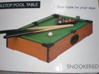 DESKTOP POOL/SNOOKER TABLE NEW