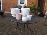 5 Ceramic Glazed plant Pots