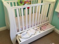 Beautiful Tutti Bambini Cot Bed in superb condition - converts into bed or mini sofa