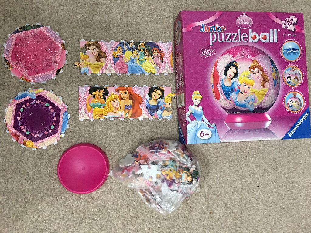 Disney Princess Junior Puzzleball 96 Pieces - Good Condition