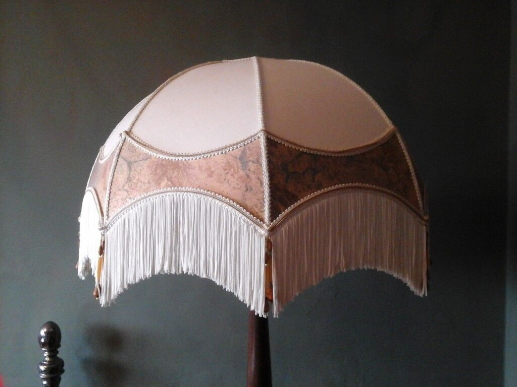 Large Art Deco Style Standard Lamp Shade In Bampton Oxfordshire