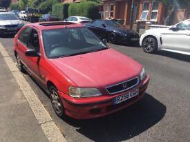 Honda Civic 1.4I 1396cc Petrol 5 speed Manual 5 door hatchback R Reg 20/08/1997 Red