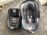 Cybex Aton Q Baby Car Seat & Base- Black River