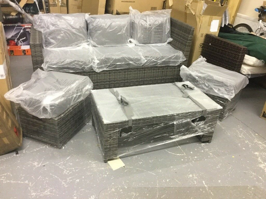 Grey Rattan Garden Furniture