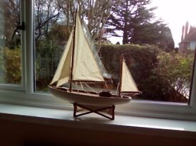 Large decorative sailing boat, perfect for a window display