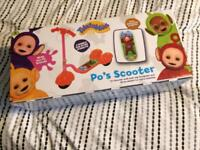 Teletubbies Scooter ages 3+ BNIB
