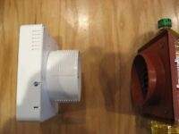 Newlec Bathroom Extractor Fan with overun timer complete with outside terrocotter coloured grill