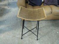 Original 1960,s Metal & Rattan Bar stools Chairs Bench Deliv Poss