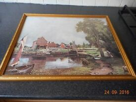 FRAMED COPY OF DEDHAM MILL by JOHN CONSTABLE