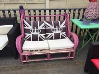 *****FREE**** Pink double wicker seat
