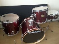 Yamaha YD wine red drum kit with 22 inch kick drum i