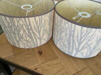 Dunelm rustic lampshades - pair 30cm