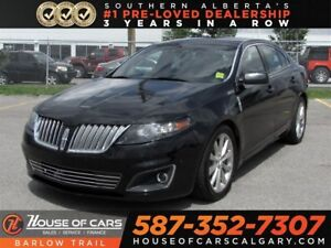 2012 Lincoln MKS EcoBoost AWD  / Navi / Leather / Sunroof