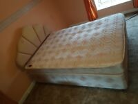 Used Double Divan Bed with Mattress and headboard