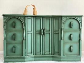 Emerald green sideboard