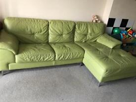 3 seater sofa, lovely lime colour