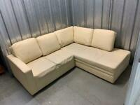 FREE DELIVERY leather corner sofa