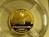 very rare CONCORDE MONNAIE DE PARIS gold 50 euro coin 22ct gold l/e 8.45g