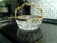 ❌GORGEOUS ❌ Vintage HEAVY Elegant LEAD / THICK CUT Crystal bowl