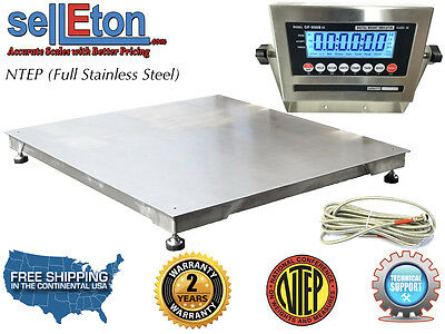 Ntep 36 X 36 3 X 3 Floor Scale Fixed Top Stainless Steel Washdown 5000 Lbs