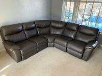La Z Boy Leather Corner Recliner Sofa