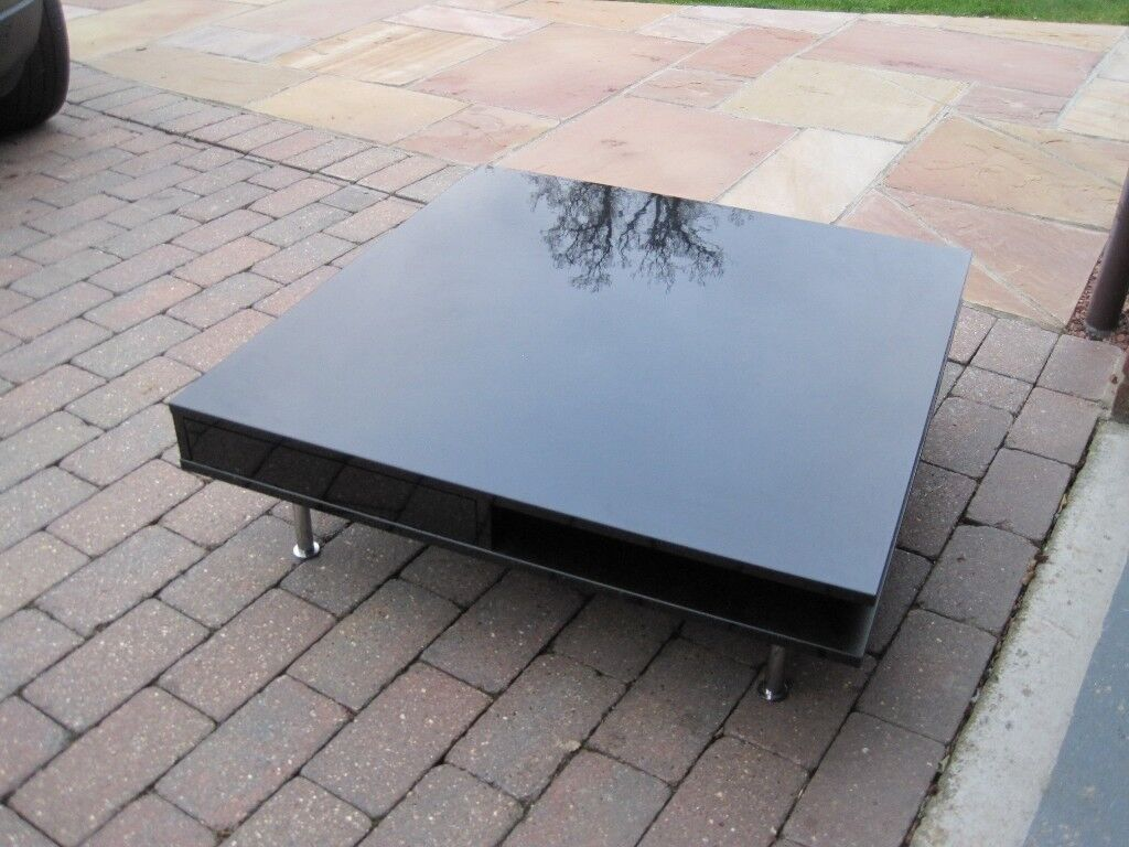 Gloss Black Ikea Tofteryd Coffee Table Besta Burs Tv Bench With  # Tofteryd Meuble Tv