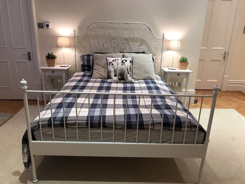 ikea leirvik bed and hovag mattress - Ikea Leirvik Bed Frame