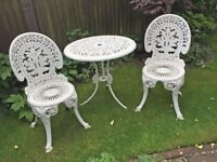 Aluminium Garden Table & 2 Chairs