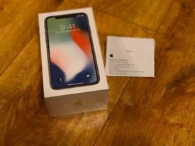 iPhone X 64gb Silver Brand New Sealed with receipt from Apple