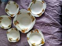 Vintage bowl and dishes