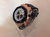 New Audemars Piguet AP Royal Oak offshore Rose Gold Case Automatic Watch, RUBBER STRAP
