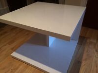 Set of 2 Next black gloss & 2 white gloss bed/side tables for sale