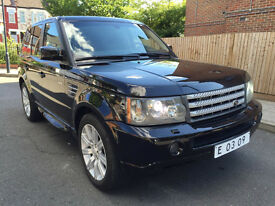 LHD LEFT HAND DRIVE LAND ROVER RANGE ROVER SPORT 4x4 4.2 SUPERCHARGED BLACK EDITION 2008