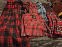 Selection of ladies kilts
