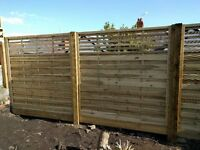TWO BRAND NEW! Contemporary Design Kyoto Fence Panels 1800mm x 1800mm (15 year guarantee)