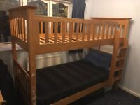 wooden bunk bed, solid ,detachable,M&S Brand