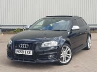 AUDI S3 2.0 TFSI QUATTRO 5dr * BLACK EDITION SPEC* PAN ROOF * NAV**HTD LEATHER*HPI CLEAR *FSH*